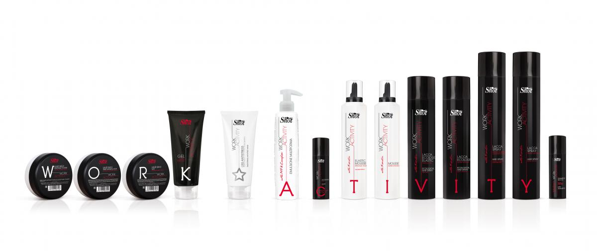 work activity linea finish shot capelli hairspray capelli lacca liss mousse super strong forte